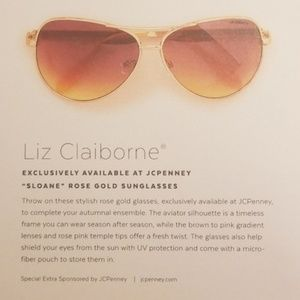 265d5d3d1a724 Liz Claiborne Accessories - New Liz Claiborne Aviator Sunglasses Rose Gold
